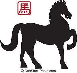 2014 Chinese Horse Forward Pose Illusrtation