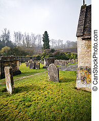 cotswold cemetery - A green cemetery in Cotswold England