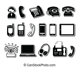 Phone icons - Simple black Phone icons