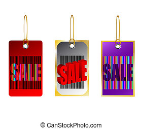 Price Tags banner sale bar code