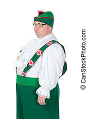 Funny fat man wearing German Bavarian clothes - Funny fat...
