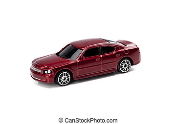 red tinted toy car