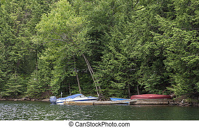 sailing boats in the lake of haliburton - Image of sailing...
