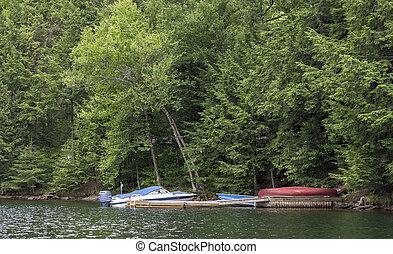 sailing boats in the lake of haliburton - Image of sailing...