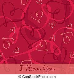 Happy Valentine's Day! - Hand Drawn heart textured...