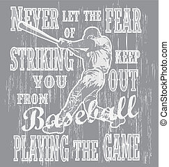 baseball never fear - illustration for shirt printed and...