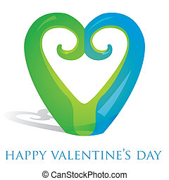 Happy Valentine's Day! - Koru heart ornament Valentine's Day...