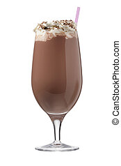 chocolate milkshake - Chocolate ice cream milkshake drinks...