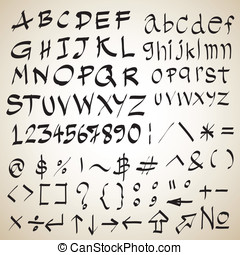 Sketch of font design