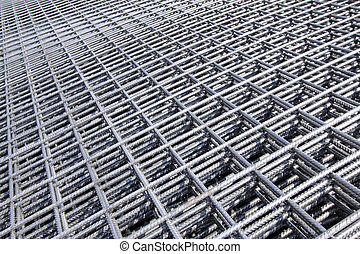 bundle of reinforced components in a construction site