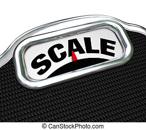 Scale Word on Measurement Tool Device Measuring Weight - The...