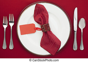 dining etiquette - Dining Etiquette with silverware, ceramic...