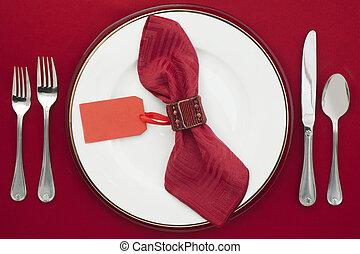 dining etiquette - Dining Etiquette with silverware, ceramic...
