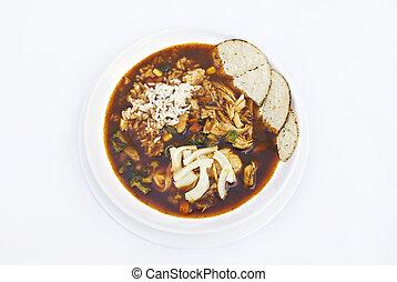 Caldo Tlalpeno - Caldo tlalpeno is a Mexican savory chicken...