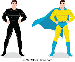 Superhero - Stock vector of a superhero posing