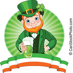 Leprechaun Toast - Leprechaun Raises A Glass To Celebrate...