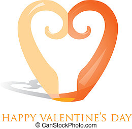 Happy Valentines Day - Koru heart ornament Valentines Day...