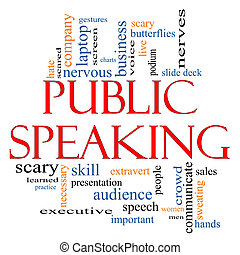 Public Speaking Word Cloud Concept with great terms such as...