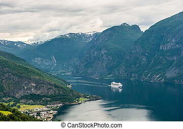 View of Aurlandsfjord, Norway