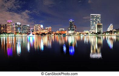 Orlando night panorama