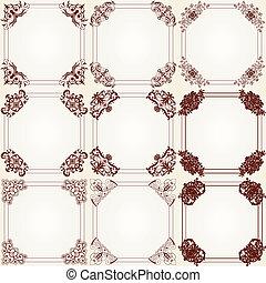 Set of decorative Vintage Frame