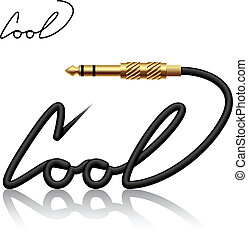 vector jack connector cool calligraphy