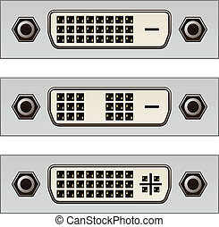 vector dvi digital pc video connectors