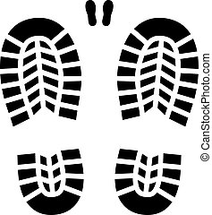 vector clean shoe imprint