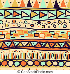Seamless pattern in the Mexican style