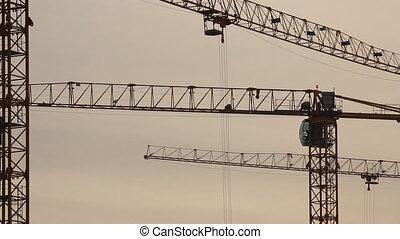 Lifting construction crane. constru
