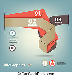 Set of paper tape for infographic