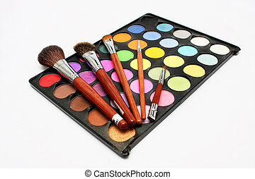 Colorful Eyeshadow with Blusher