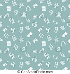 Seamless gadgets background texture - A repeating seamless...
