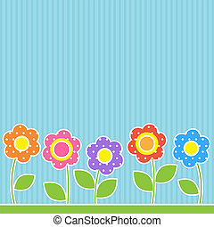 Flowers in patchwork style