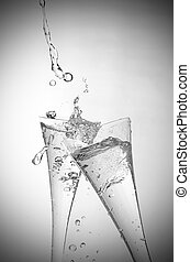 Sparkling Wine - Two glasses of sparkling wine