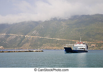 Ferry boat at the Greek islands