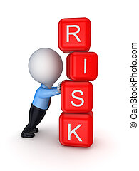 Risk conceptIsolated on white background3d rendered
