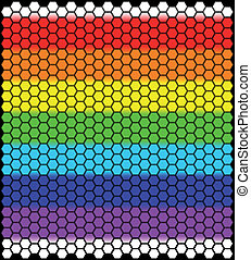 Rainbow Honeycomb - A honeycomb pattern background with the...