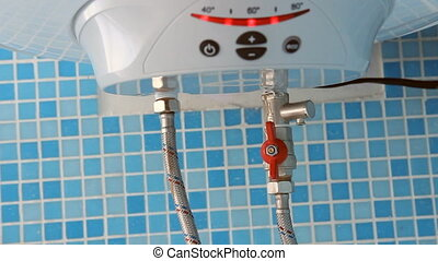 Water heater in the bathroom (boiler)