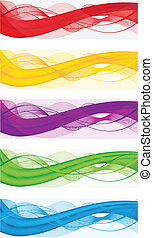Abstract banners for web header - A set of abstract banners...