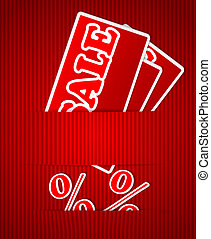 Sale or discount tags for price list