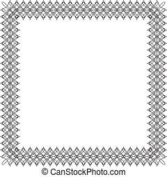 Wrought iron frame 3