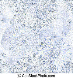 Christmas silvery seamless pattern - Christmas silver and...