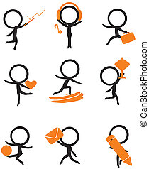 stick figure with items
