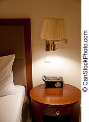 Element of well decorated hotel bedroom