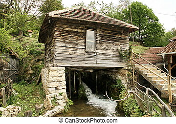 Water mill in the Balkan mountain