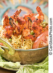 Indian food, Bhuna Prawn, Bhoona Prawn.