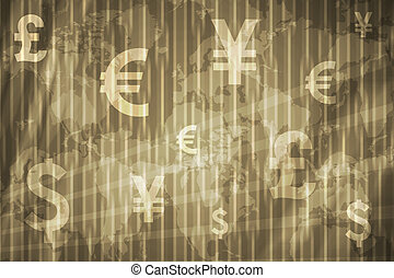 Business Stock Exchange Abstract Background in Gray Gold...