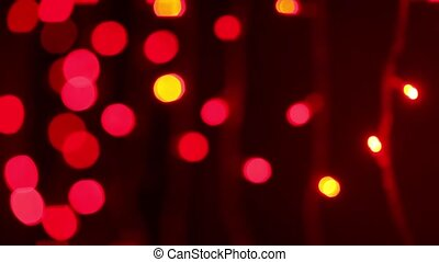 Pretty Christmas lights - Twinkling pink & gold Christmas...