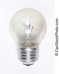 Old Light Bulb - Old Burned Out Light Bulb Isolated on White